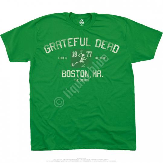 GRATEFUL DEAD-THE GARDEN-1977-BOSTON MA-T SHIRT M-L-XL-XXL Garcia,Wier,Lesh,Hart