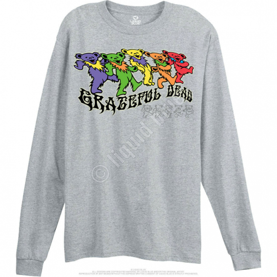 GRATEFUL DEAD-TRIPPY BEARS-LONG SLEEVE-SHIRT 3X-4X-5X, 7X-8X Short Sleeve 6X