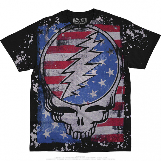 GRATEFUL DEAD-TRUE BLUE SYF-HAVOK BLACK T SHIRT S-M-L-XL-2X,3X-4X-5X-6X