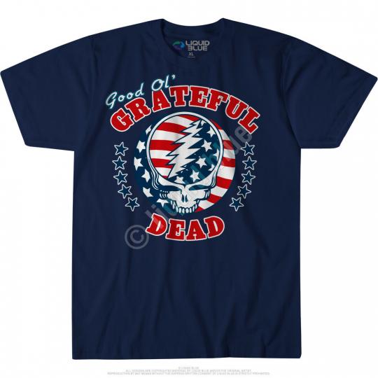 GRATEFUL DEAD-US INDEPENDENCE-SYF GOOD OL GD-TSHIRT  2X, LADIES S,M,XL,2XL bl