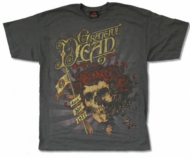 GRATEFUL DEAD Winterland Arena 1977 GREY T-SHIRT 2XL NEW OFFICIAL Reissue Pirate