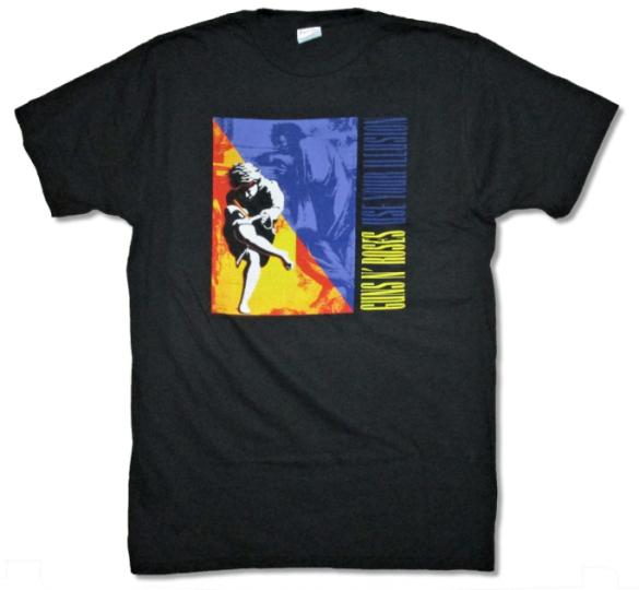 GUNS N ROSES HEAVY METAL HARD Rock Band CONCERT Tour BLACK 2XL Adult T-Shirt J