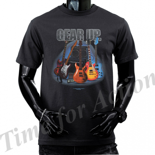 Gear Up Guitar Graphic T-shirts, Tank Top
