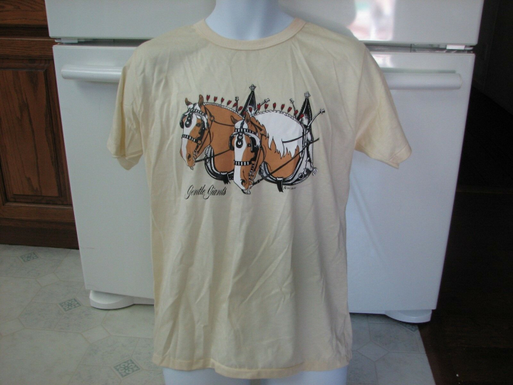 Gentle Giants Horses vintage t shirt 1987 unused and perfect condtion