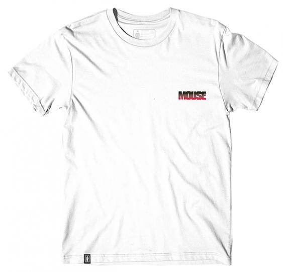 Girl Skateboards Mouse Skate Video Embroidered White T-Shirt