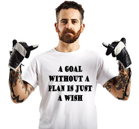 Goal No Plan Just A Wish Adult Shirt Tank Top Motivated Men Women S M L XL 2XL