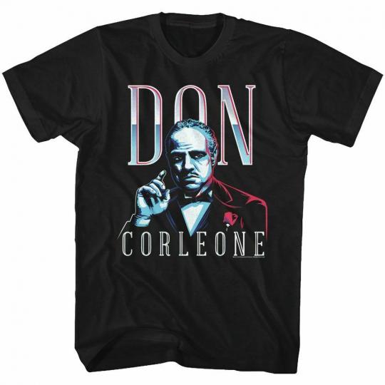 Godfather Don Corleone Black Adult T-Shirt