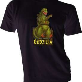 Godzilla Movie Poster T shirt Custom Made Classic Vintage Men's Graphic New