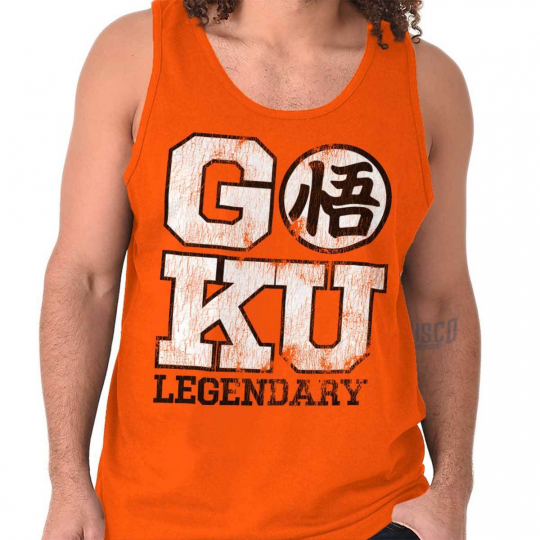 Goku Workout Legendary Anime TV Show Geek Adult Tank Top T-Shirt Tees Tshirt