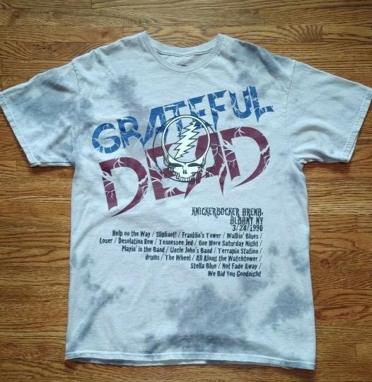 Grateful Dead 1990 Spring Tour T-Shirt Gray Tie ty tye Dye size medium adult