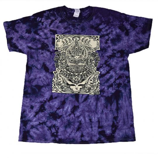 Grateful Dead Aiko Aiko Tie Dye T Shirt - Purple