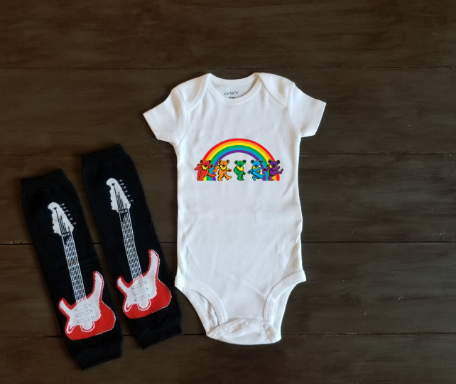 Grateful Dead Baby Shower Gift Onesie Bodysuit Shirt Outfit