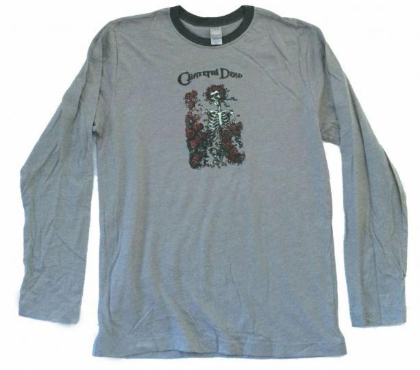Grateful Dead Bertha Skeleton & Roses Grey Long Sleeve Shirt New Official Soft