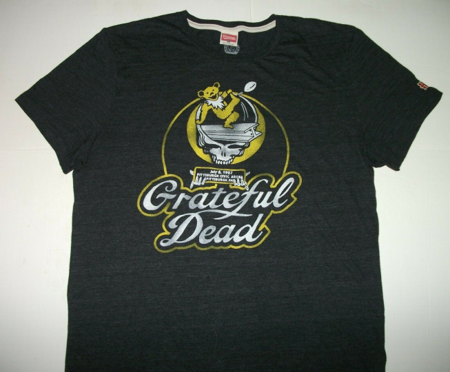 Grateful Dead Black Homage Pittsburgh PA 1987 T-shirt Size XL