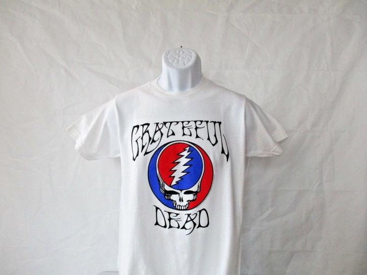 Grateful Dead Classic Logo White T-Shirt - Adult Sizes S - XL - NEW!