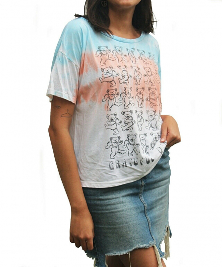 Grateful Dead Dancing Bears Tie Dye T shirt By Chaser 60's 70's Psychedelic Rock