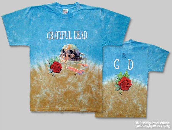 Grateful Dead Desert Skull Rose Stan Mouse Tie Dye 1981 Tour M L XL