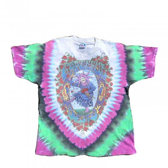 Grateful Dead Endless Tour 1993 Vintage Liquid Blue Tie Dye Band Shirt Mens Lrge