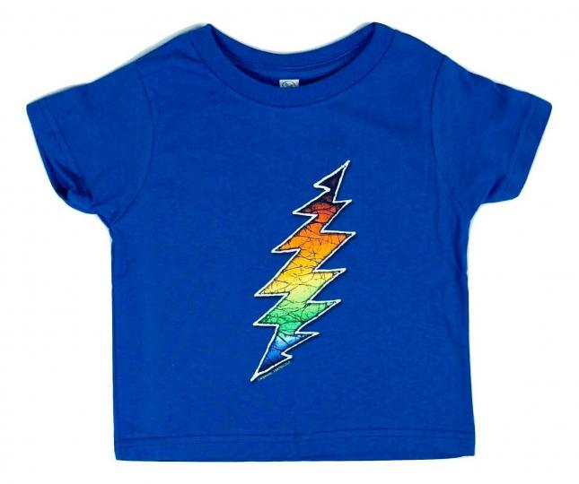 Grateful Dead Lightening Bolt Blue Toddler T Shirt