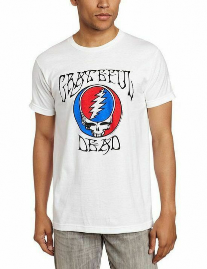 Grateful Dead Logo Steal Your Face Fitted T-Shirt SM, MD, LG, XL, XXL New