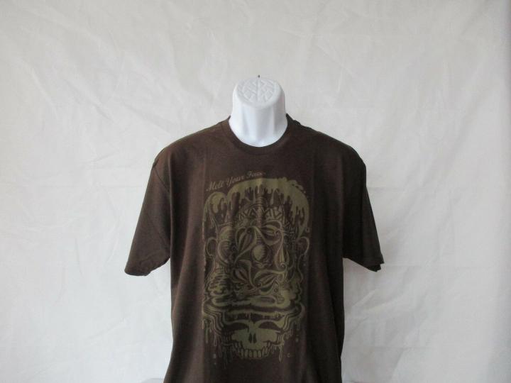 Grateful Dead Melt Your Face - Dead Melt Brown T-Shirt - Adult Sizes L - XL  NEW