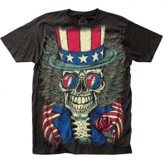Grateful Dead Patriotic Skelly Big Print Subway Classic T-Shirt