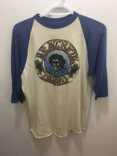 Grateful Dead Shirt Baseball Style Old Late 60's Vintage 1st Bertha!