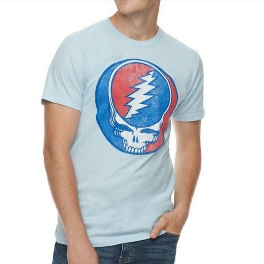 Grateful Dead - Skull Logo - Light Blue - Short Sleeve - Men/Unisex - Small