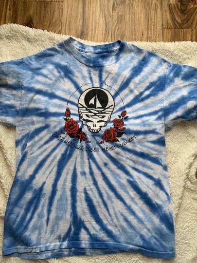 Grateful Dead Skull Rye Dye Harbor Trees Membership 2017 Make America Grateful
