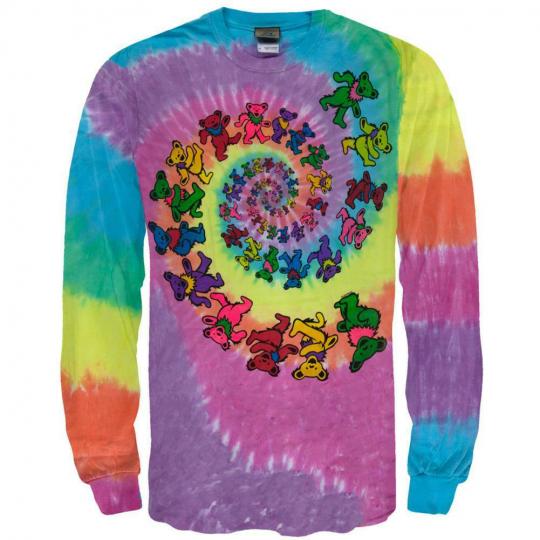 Grateful Dead - Spiral Bears Long Sleeve T-Shirt