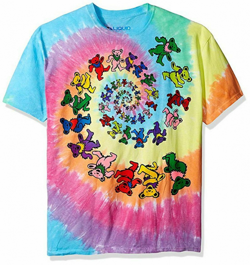 Grateful Dead Spiral Bears Tie Dye T-Shirt All Sizes New