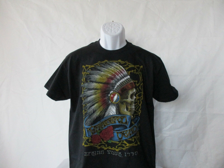 Grateful Dead Spring Tour 1990 Black T-Shirt - Adult Sizes M & XL - NEW!