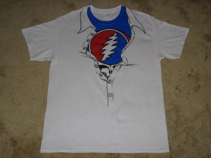 Grateful Dead Unleashed S, M, L, XL, 2XL White T-Shirt