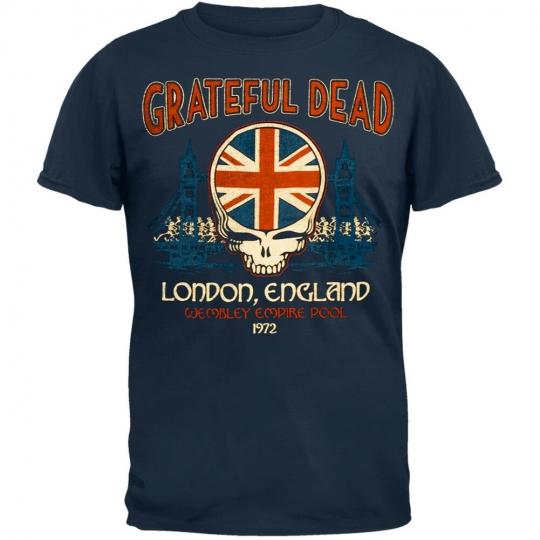Grateful Dead - Wembley Empire Pool Men's T-Shirt Dark Blue