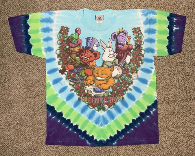 Grateful Dead - Wonderland Jam-Band (Liquid Blue 2006) - Men's T-Shirt Size L