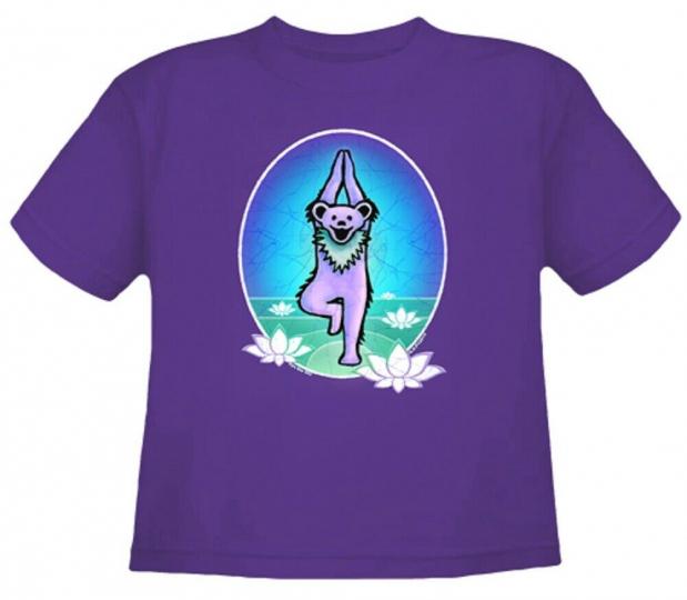 Grateful Dead Yoga Bear Toddler T Shirt