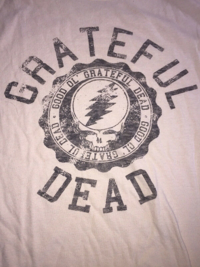 Greatful Dead Arc Logo T Shirt Off White Color Mens Size Large Licensed