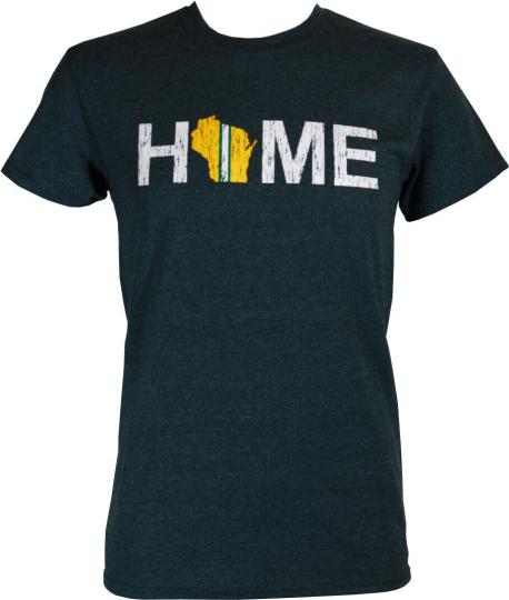 Green Bay Packers Home Men's Heather Grey Shirt