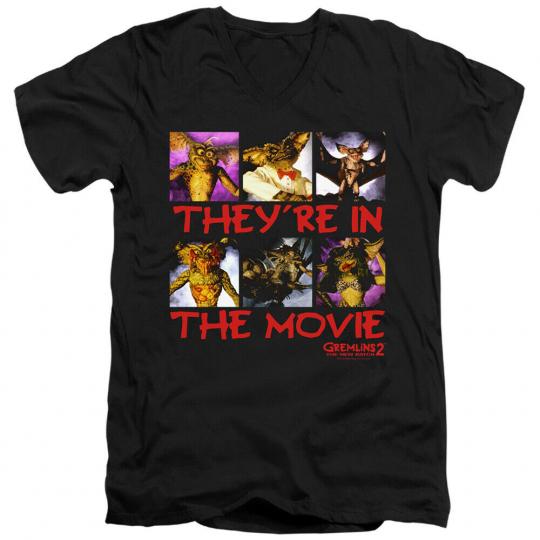 Gremlins 2 In The Movie Adult V-Neck T-Shirt