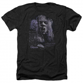 Grimm TV Show Wesen LADY HEXENBEAST Licensed Adult Heather T-Shirt All Sizes