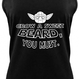 Grow Sweet Beard You Must Funny Ladies Tank Top TV Show Movie Soft Tank Z6