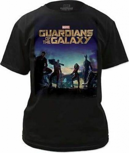 Guardians Of The Galaxy Movie Poster Marvel Comics Super Hero T Shirt S-2Xl