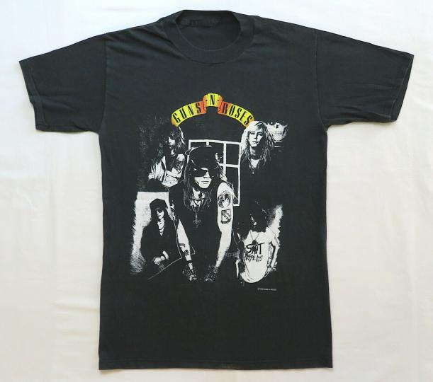 Guns N Roses Vintage T Shirt 1980's Appetite For Destruction Tour Rock Concert