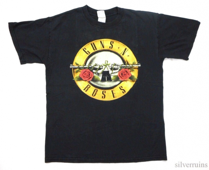 Guns N Roses Vintage T Shirt 2000's Rock Band GNR Classic Distressed Logo M 2004