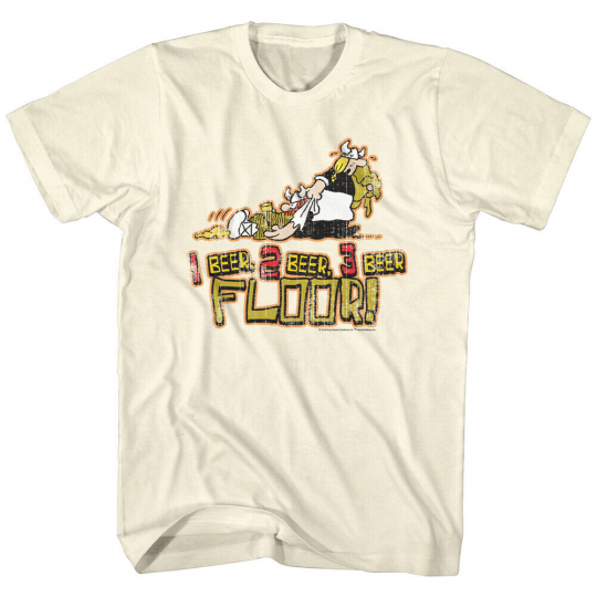 Hagar The Horrible Instant Viking Comic 1 2 3 Beer Floor Adult T-Shirt Tee