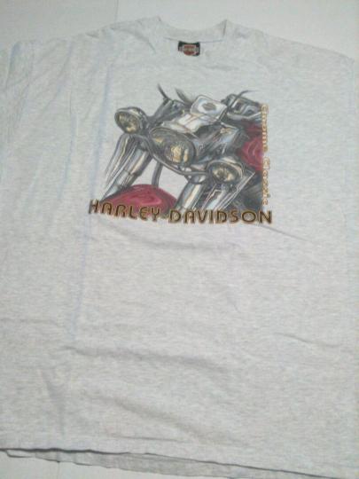 Harley Davidson 1998 Gray Santa Cruz Tee T-Shirt Size XXX-Lg 3XL Vintage Nice!