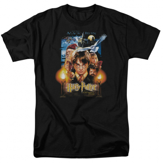 Harry Potter Movie Poster Short Sleeve T-Shirt Licensed Graphic SM-7X