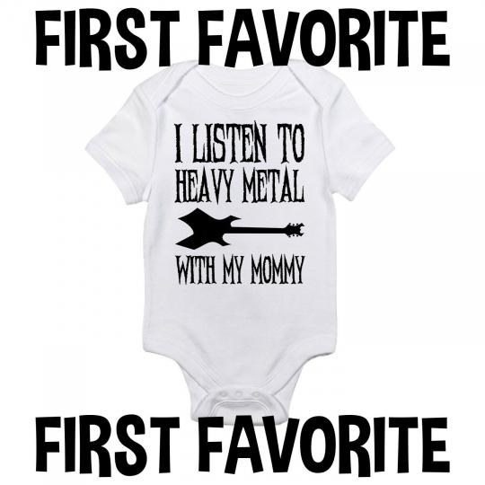 Heavy Metal Mommy Baby Onesie Shirt Mom Music Shower Gift Newborn Clothes Gerber