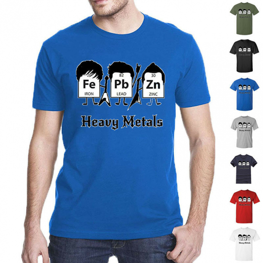 Heavy Metals Periodic Table Science Graphic Band Music Cool Very Funny T Shirts