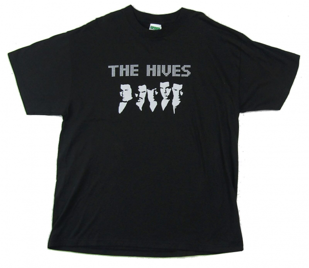 Hives Silver Band Image Black T Shirt New Official Merch